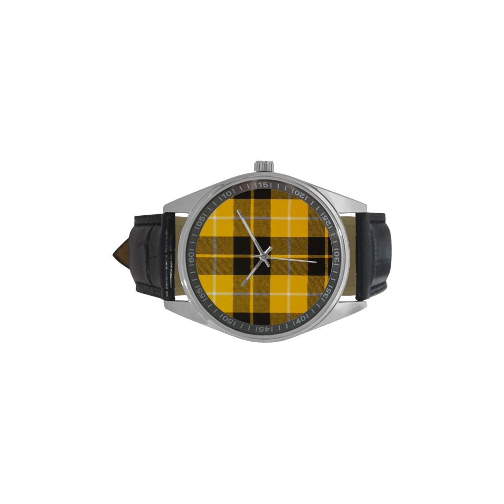 BARCLAY DRESS LIGHT MODERN TARTAN Men's Casual Leather Strap Watch(Model 211)