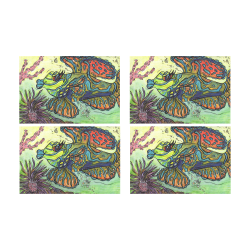 Mindy the Mandarin Fish Placemats Placemat 12'' x 18'' (Four Pieces)