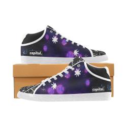 capital purple hazed galaxy kicks Men's Chukka Canvas Shoes (Model 003)