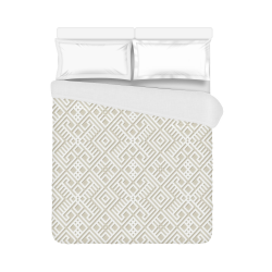 """White 3D Geometric Pattern Duvet Cover 86""""x70"""" ( All-over-print)"""