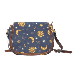 Vintage Celestial Pattern Saddle Bag/Large (Model 1649)