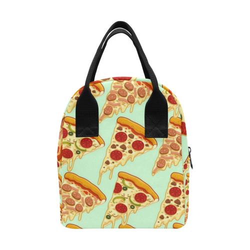 Pizza Lunch Bag 2 Zipper Lunch Bag (Model 1689)