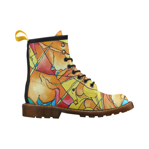 ABSTRACT NO. 1 High Grade PU Leather Martin Boots For Men Model 402H