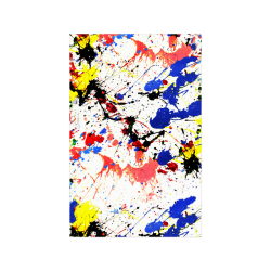 "Blue and Red Paint Splatter Poster 11""x17"""