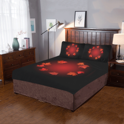 Autumn Canada Maple Leaves 3-Piece Bedding Set