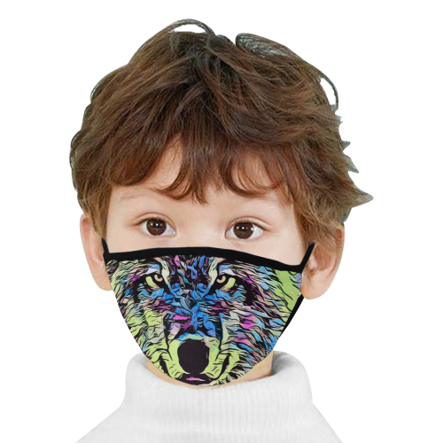 WOLF MULICOLOR MASK Mouth Mask