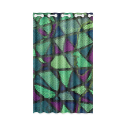 """Stained Glass Curtain New Window Curtain 50"""" x 84""""(One Piece)"""
