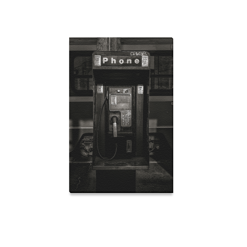 "Phone Booth No 13 Canvas Print 12""x18"""