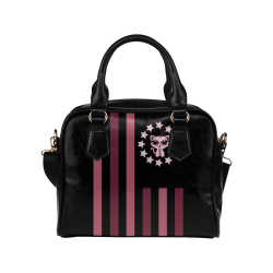 Kitten - Flag Shoulder Handbag (Model 1634)