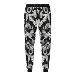 Black and White Pop Art by Nico Bielow Men's All Over Print Sweatpants (Model L11)
