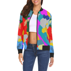 CONFETTI NIGHTS 3 All Over Print Bomber Jacket for Women (Model H19)