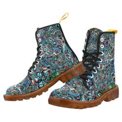 VanGogh Swirl by Jera Nour Martin Boots For Women Model 1203H