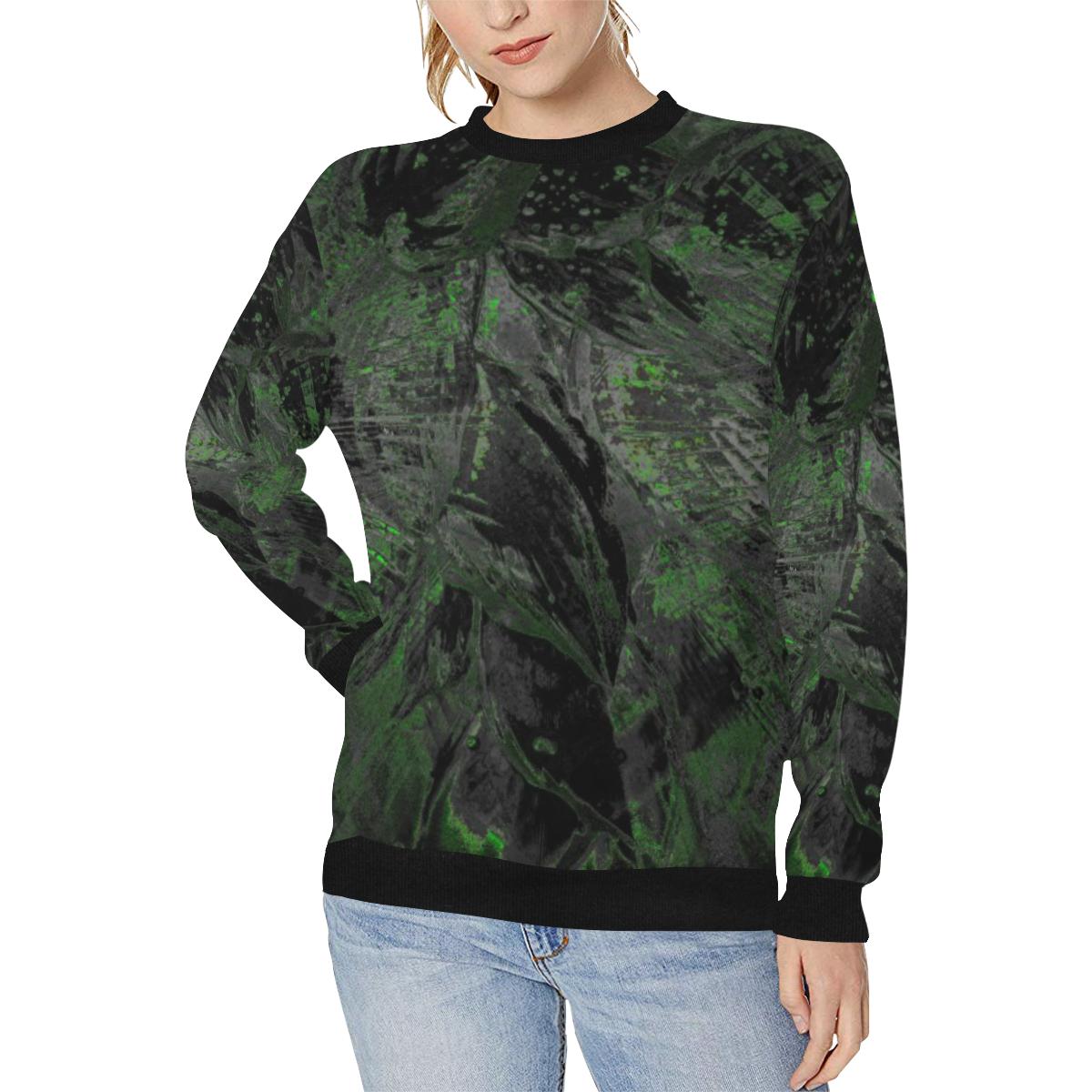 wheelVibe_8500 45 SOLDIER NIGHT low Women's Rib Cuff Crew Neck Sweatshirt (Model H34)