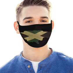 Jamaica Flag Map Outline Mouth Mask