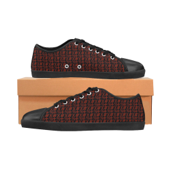 NUMBERS Collection Symbols Red/Black Men's Canvas Shoes (Model 016)