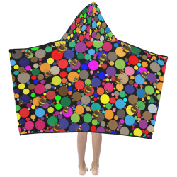 Circles and Bees Kids' Hooded Bath Towels