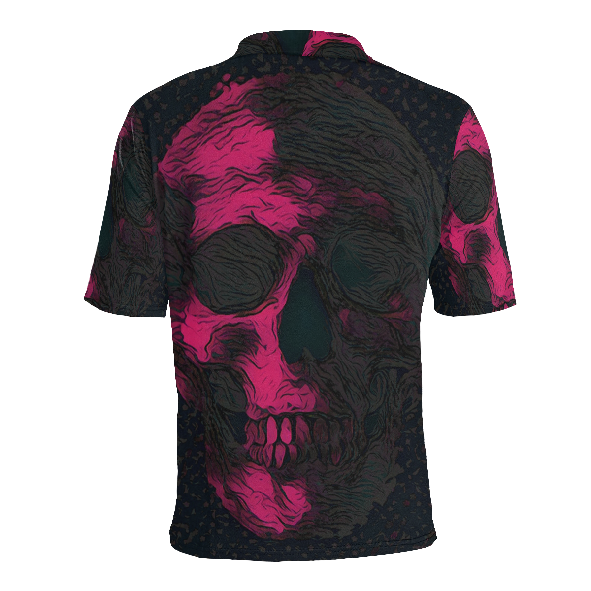 SKULL ABSTRACT LUXURY PINK POLO Men's All Over Print Polo Shirt (Model T55)