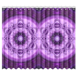 "MANDALA PURPLE POWER Window Curtain 50""x84""(Two Piece)"