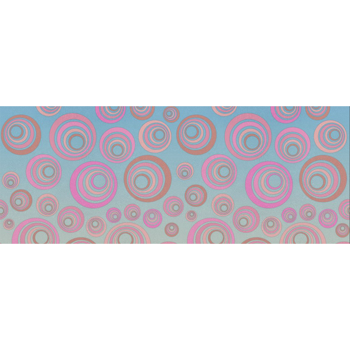 """Retro Psychedelic Pink on Blue Gift Wrapping Paper 58""""x 23"""" (1 Roll)"""