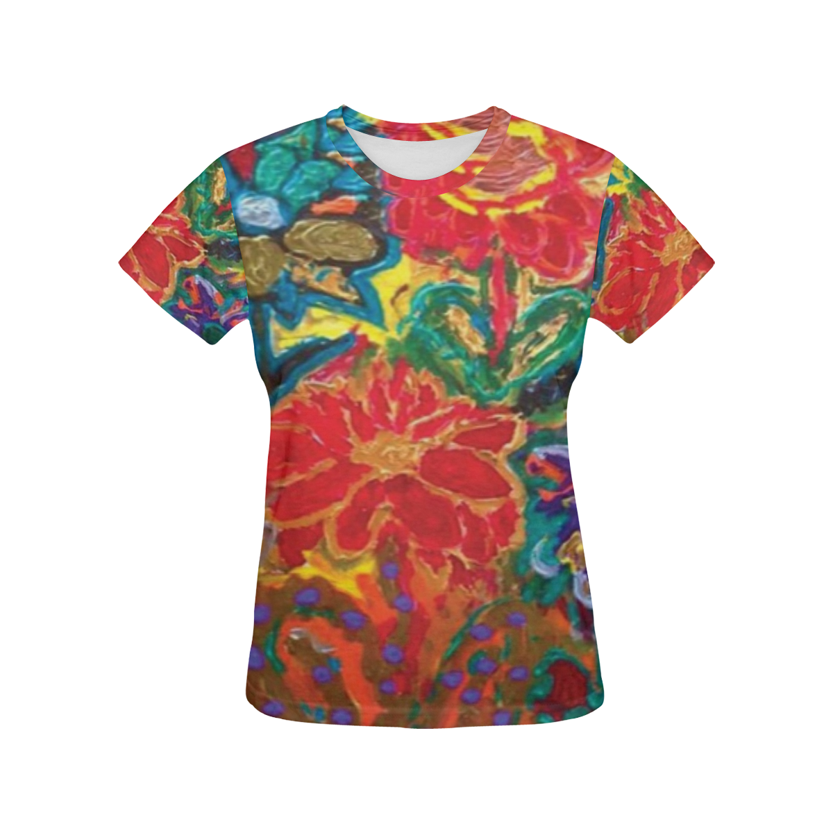 GIRLS HAPPY All Over Print T-Shirt for Women (USA Size) (Model T40)
