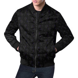 Small Magical Birds All Over Print Bomber Jacket for Men (Model H19)