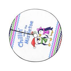 """Chillin Penguins Christmas Tree Skirt 47"""" x 47"""""""