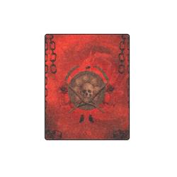 """Skulls on red vintage background Blanket 40""""x50"""""""