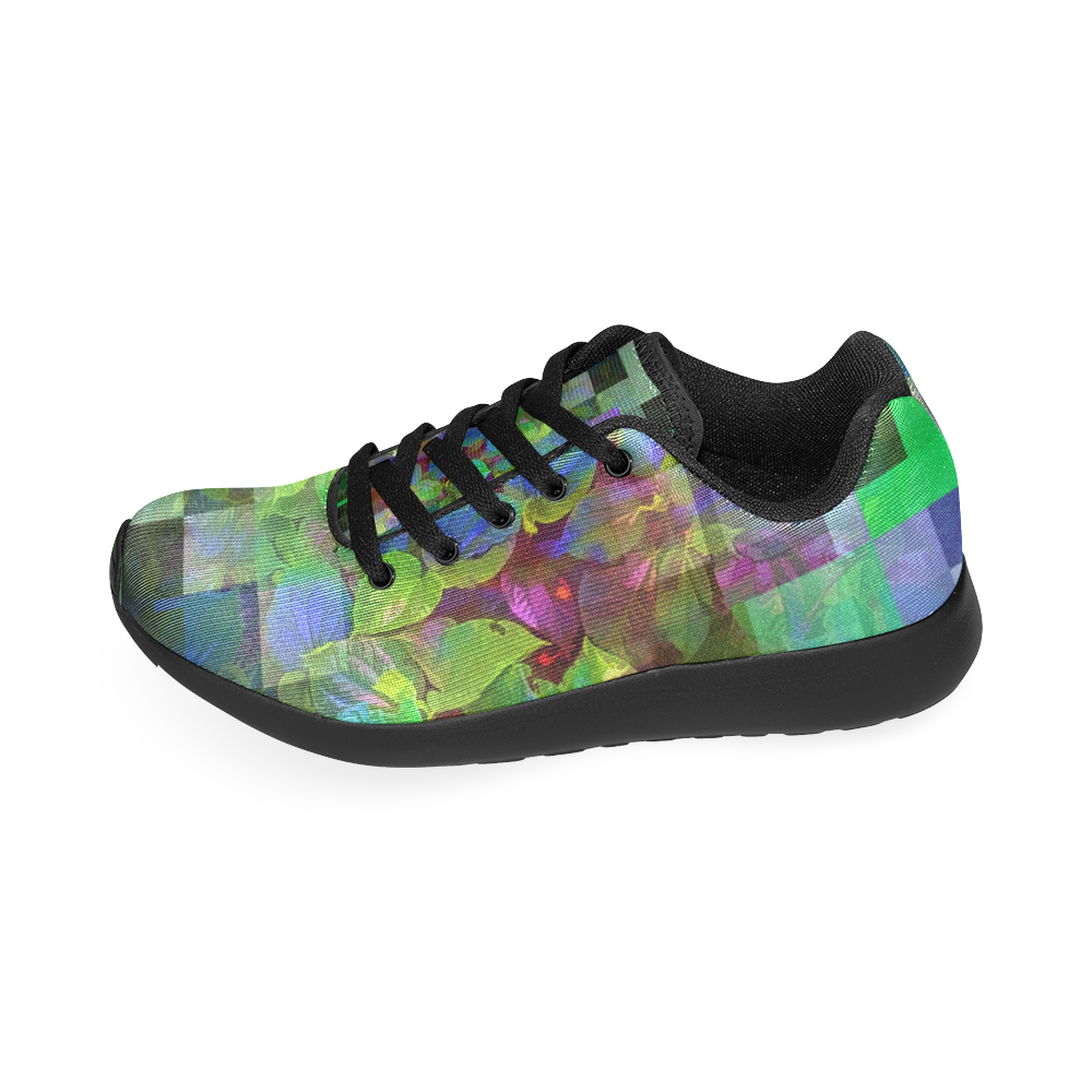 Foliage Patchwork #10 by Jera Nour Women's Running Shoes/Large Size (Model 020)