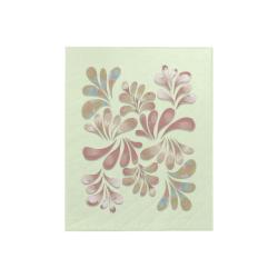 """Pastel Floral Dance Pattern Quilt 40""""x50"""""""