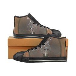 Light bulb with birds Men's Classic High Top Canvas Shoes (Model 017)