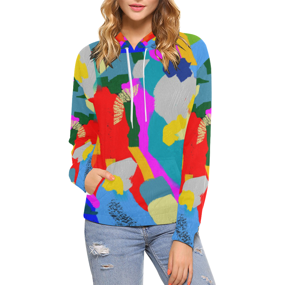 CONFETTI NIGHTS 3 All Over Print Hoodie for Women (USA Size) (Model H13)