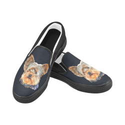 Yorkie Casual Shoes Women's Unusual Slip-on Canvas Shoes (Model 019)