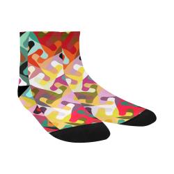 Colorful shapes Quarter Socks