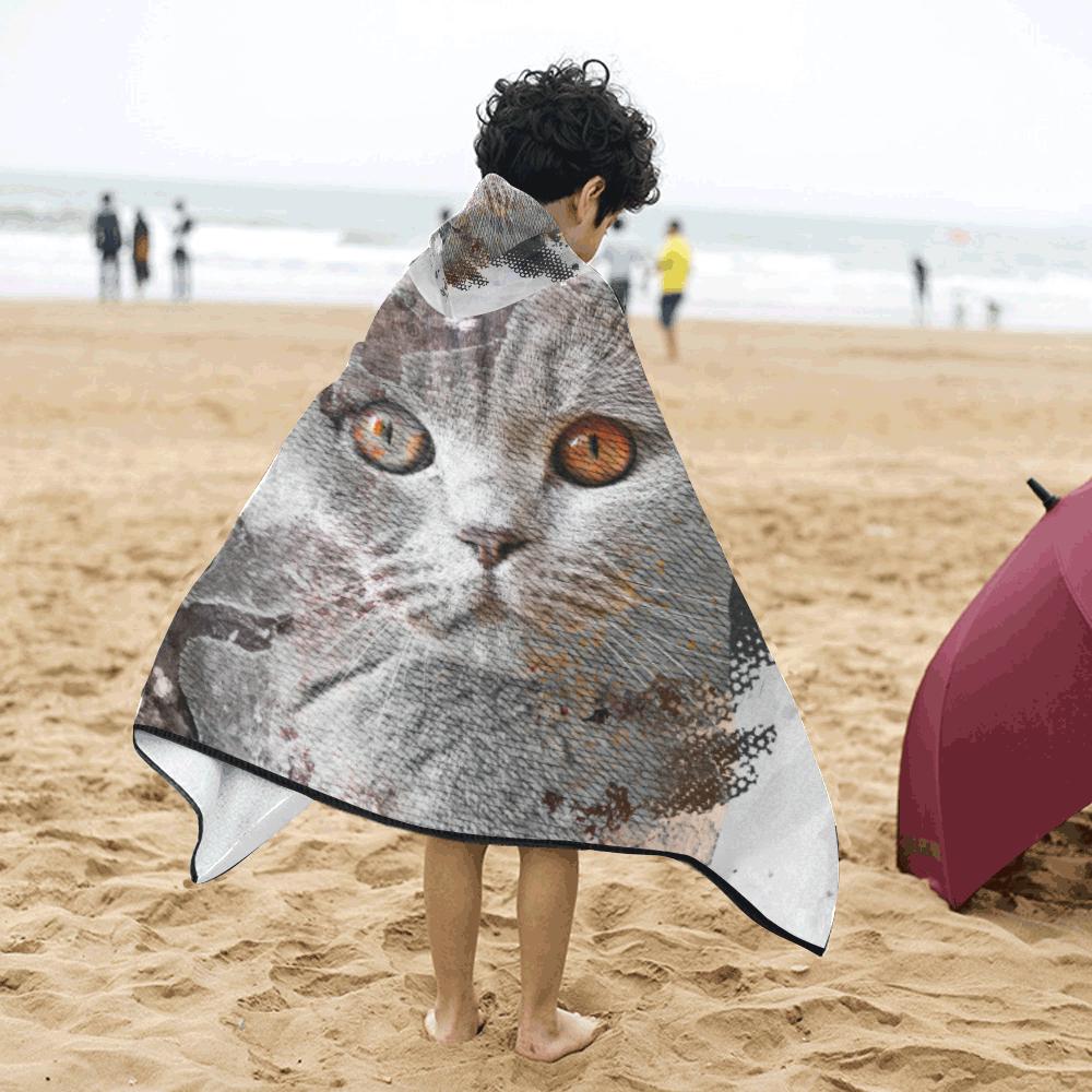 cat kitty art #cat #kitty Kids' Hooded Bath Towels