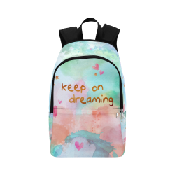 KEEP ON DREAMING Fabric Backpack for Adult (Model 1659)