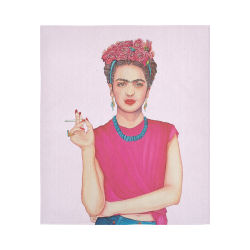 """FRIDA Cotton Linen Wall Tapestry 51""""x 60"""""""