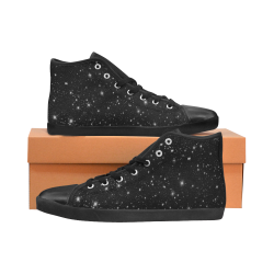 Stars in the Universe High Top Canvas Women's Shoes/Large Size (Model 002)