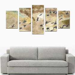 BIRDS PAINTING Canvas Print Sets D (No Frame)