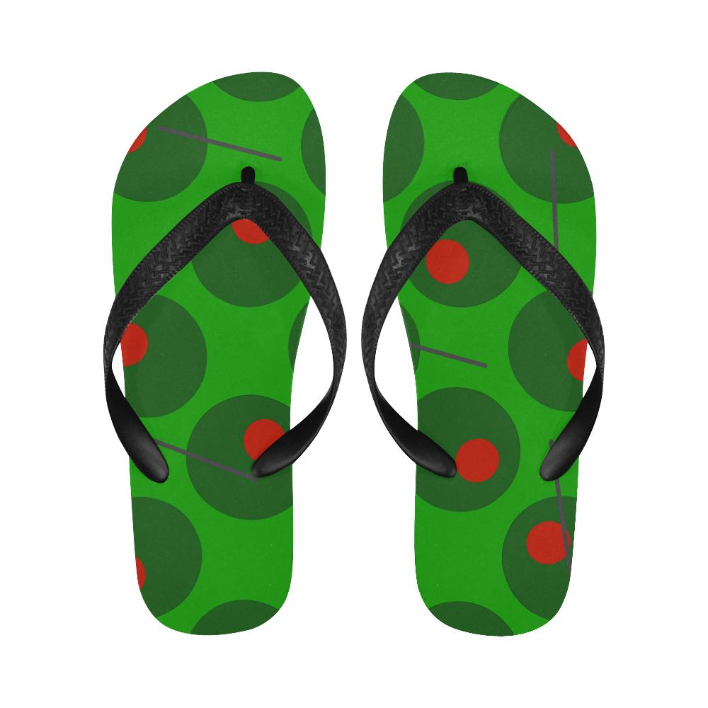 olives trans Flip Flops for Men/Women (Model 040)