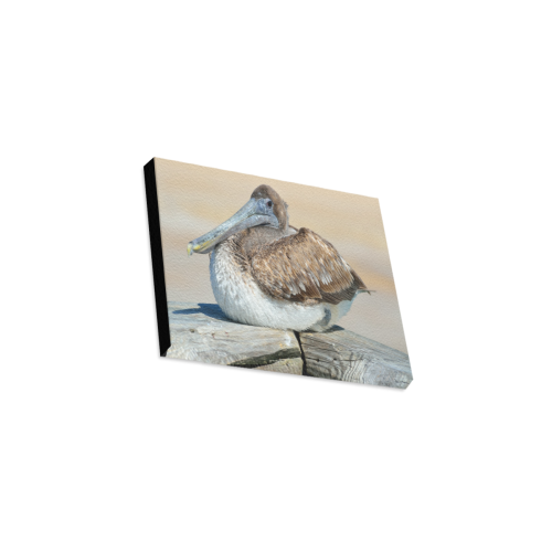 """Pelican On The Dock Canvas Print 10""""x8"""""""