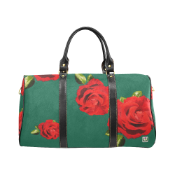 Fairlings Delight's Floral Luxury Collection- Red Rose Waterproof Travel Bag/Small 53086e18 New Waterproof Travel Bag/Small (Model 1639)