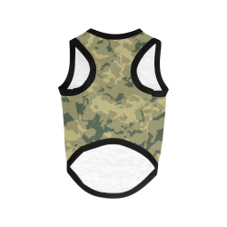 wood camouflage pattern All Over Print Pet Tank Top