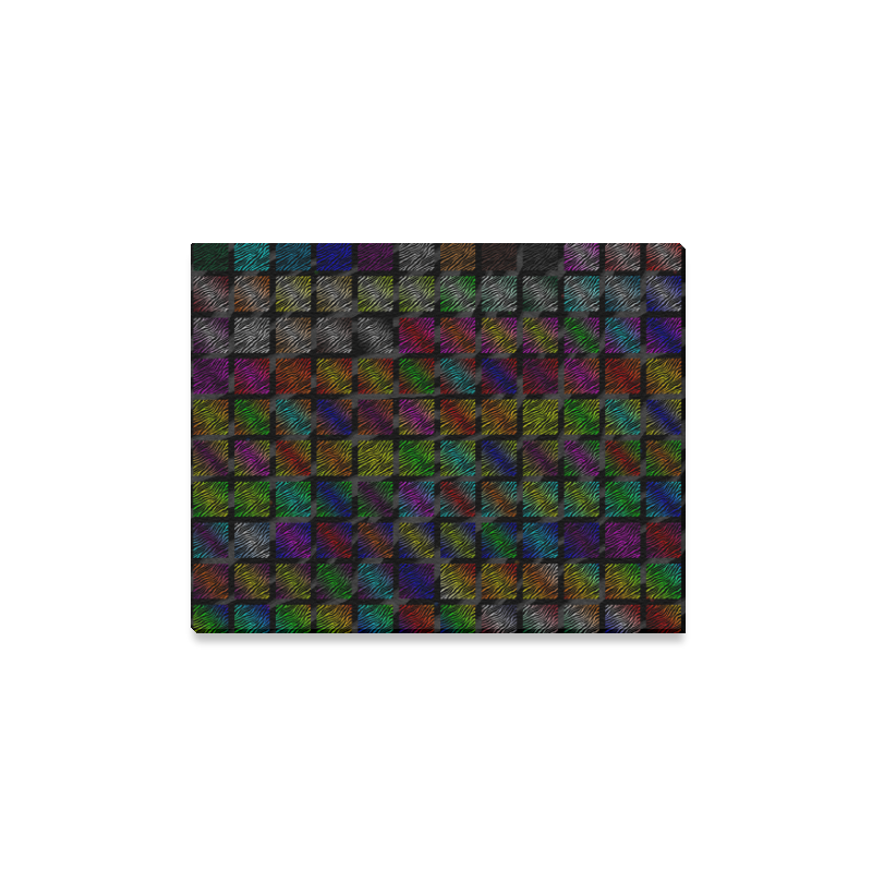 """Ripped SpaceTime Stripes Collection Canvas Print 14""""x11"""""""