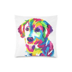 "Rainbow Puppy Custom Zippered Pillow Case 20""x20""(Twin Sides)"