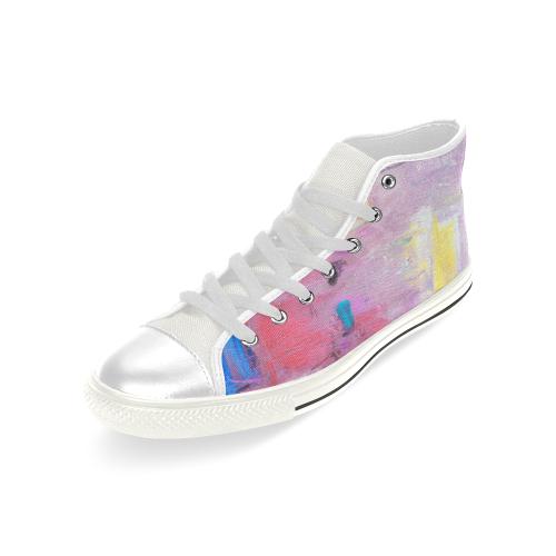 Little purple Men's Classic High Top Canvas Shoes (Model 017)