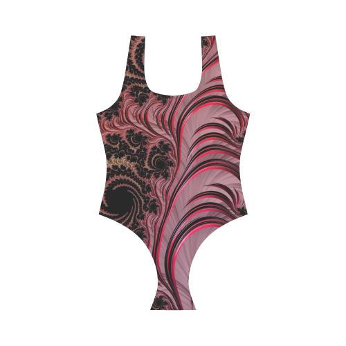 Rose Fractal Vest One Piece Swimsuit (Model S04)