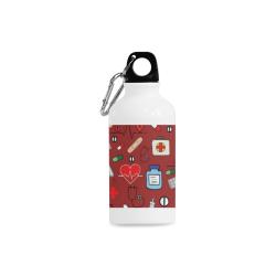 red nurses pattern water bottle Cazorla Sports Bottle(13.5OZ)