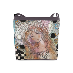 beautiful women girl fantasy art Crossbody Bags (Model 1613)