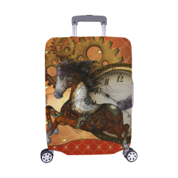 "Steampunk, awesome steampunk horse Luggage Cover/Medium 22""-25"""
