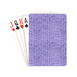 """Knitted Wool lilac Playing Cards 2.5""""x3.5"""""""
